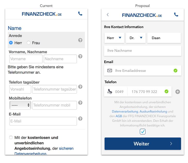 Finanzcheck Design Challenge